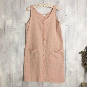 Vintage | front button shift dress